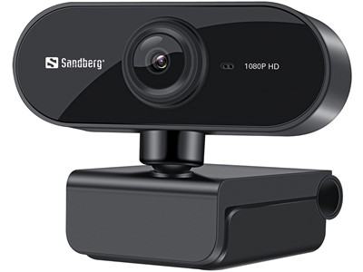 Sandberg USB Webcam Flex 1080P HD, Black