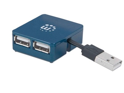 Manhattan 160605 interface hub USB 3.0 (3.1 Gen 1) Type-A 480 Mbit/s Sort