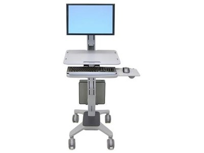 "Ergotron WorkFit C-Mod, Single Display Sit-Stand Workstation 22"" Grå"