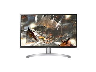 "LG 27UL650-W LED display 68,6 cm (27"") 3840 x 2160 pixel 4K Ultra HD Flad Mat Sølv"