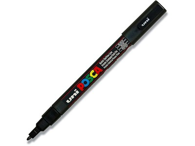 Paint marker, 0.9-1.3 mm, Sort, Rund spids, uni Posca PC-3M