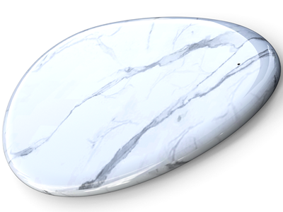 Sandberg Wireless Charger White Marble