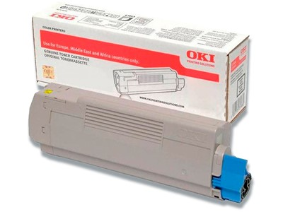 Toner, C532-MC573, Yellow-gul, 6.000 sider, OKI 46490605