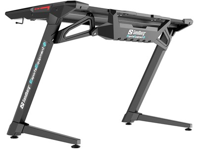 Sandberg Fighter Gaming Desk 2, Black