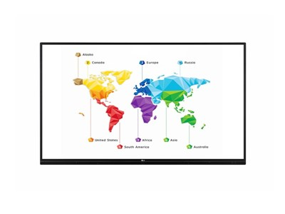 "LG 75TR3BF-B skilte display 190,5 cm (75"") LED 4K Ultra HD Touchskærm Interaktivt fladpanel Sort"