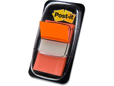 Indexfaner, Neon orange, 50 stk, 4.3x2.5 cm, Post-it Index