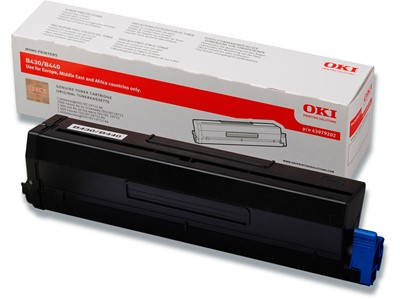 Toner, B430-B440, Black-sort, 7.000 sider, OKI 43979202