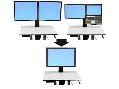 Ergotron WorkFit Convert-to-Single HD Kit from Dual or LCD & Laptop 30""