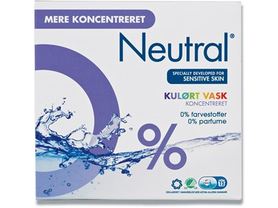 Vaskepulver Neutral 675gr. Color vask
