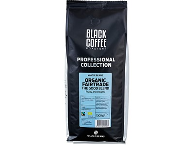 Kaffe, Hele bønner, 1000 g, 1 pose, BKI Black Coffee Roasters Organic Fairtrade