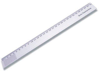 Lineal, 30 cm, Plast, Transparent, BNT Office