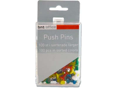 Tegnestifter, Assorteret, 20 mm, 100 stk, BNT Office