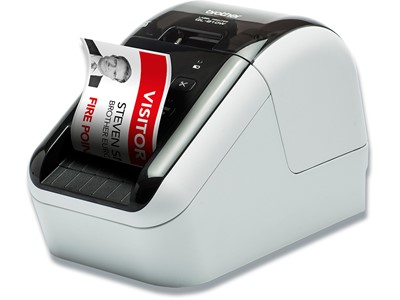 Labelprinter, Skrivebord, Til PC, Mac, smartphone, tablet, WiFi, Max 62 mm etiketbredde, Brother QL-810W