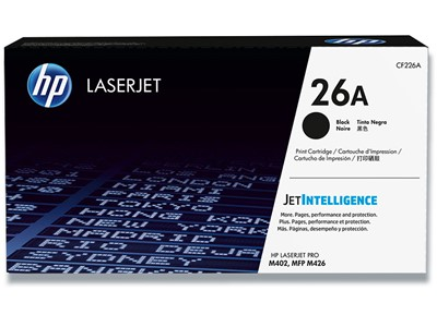 Toner, 26A, Black-sort, 3.100 sider, HP CF226A