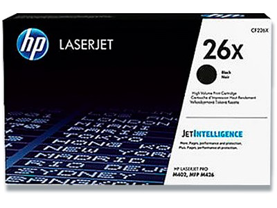 Toner, 26X, Black-sort, 9.000 sider, HP CF226X