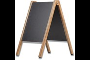 Gadetavle, Sort tavle, 60x80 cm, Træ, DSI Wooden Pavement Board 172