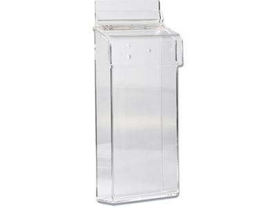 Brochureholder, 1 fag, M65, Transparent, DSI Acrylic Outdoor Box - væg 1205