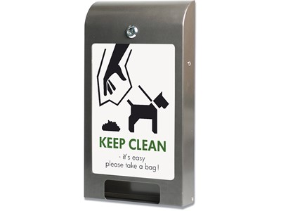 Hundepose dispenser, 24.5x44.5x6.5 cm, Grå, A4, DSI 1130