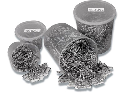 Papirclips, 33 mm, Krom, 500 stk, Esselte