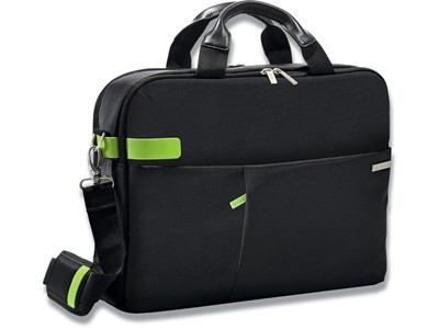 Computertaske, 18 lommer, 15.6'' Laptops Notebooks, Sort, Leitz Complete Smart Traveller