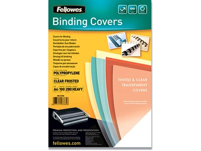 Indbindings for- og bagsider, PP-Plast, A4, Mat transparent, Fellowes