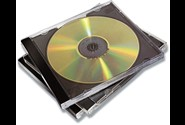 CD-DVD cover, Jewel case uden indstik, 10 stk, Singel, Fellowes
