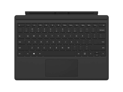 Microsoft Surface Pro Type Cover tastatur til mobil enhed UK engelsk Sort Microsoft Cover port