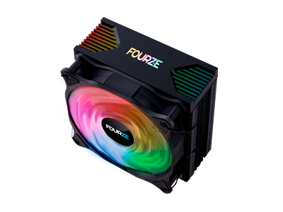 CPU Cooler, RGB, 120mm Black, Fourze CC200