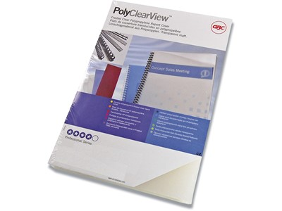 Indbindings for- og bagsider, PP-Plast, A4, Transparent, GBC PolyClearView