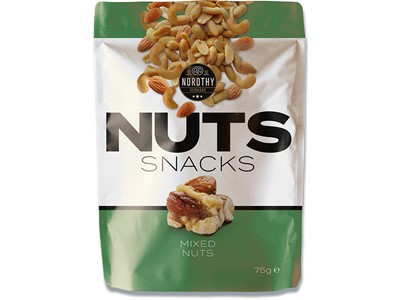 Nuts Snacks mixed grøn 75g.