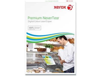 Kopipapir - hvidt, A4, 95 micron, 100 ark, Xerox Premium Nevertear Light Frost