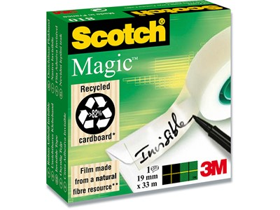 Tape, Usynlig, 19 mmx33 m, 1 rulle, Scotch Magic 810