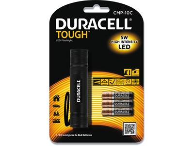 Lommelygte Duracell Though CMP10C LED incl. 3 AAA batterier