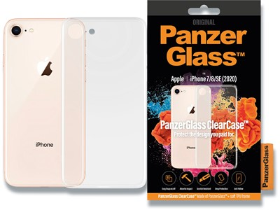 Cover, iPhone SE (2020)/8/7, Case, Transparent, PanzerGlass ClearCase