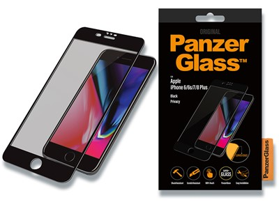 Panserglas, iPhone 6Plus/iPhone 6SPlus/iPhone 7Plus/iPhone 8Pl, Sort, 1 stk, PanzerGlass Premium Privacy