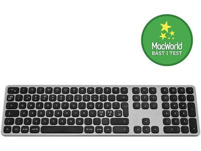 Keyboard Wireless op til 3 produkter Nordic Layout Space Grey, Satechi