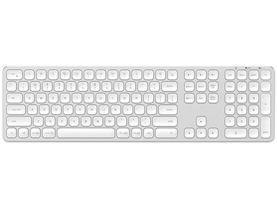 Keyboard Wireless op til 3 produkter Nordic Layout Sølv, Satechi