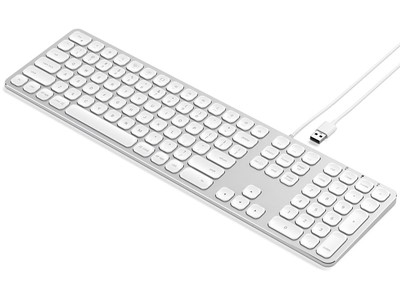 Keyboard med USB connection Nordic Layout Sølv, Satechi