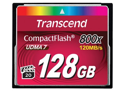 TRANSCEND 128GB CF CARD 800X TYPE I