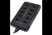LogiLink USB 2.0 10-Port Hub with On/Off Switch 480Mbit/s hub og concentrator